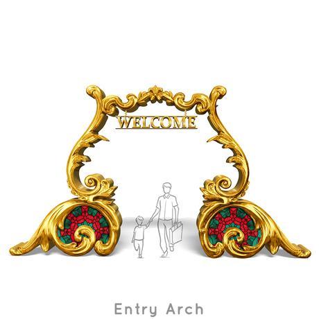 Santa-Photo-Area-Jay-Montgomery-Entry Arch