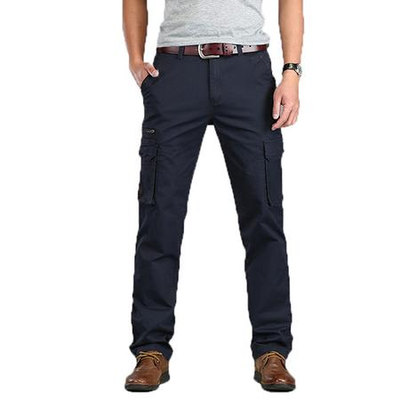 men'snavy blue cargo pants