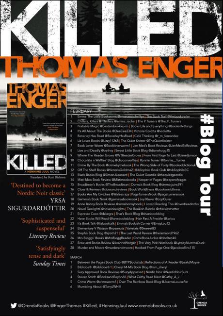 Blog Tour – Killed (Henning Juul #5) by Thomas Enger, translated by Kari Dickson