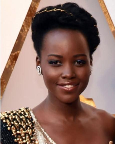 The Oscars Hair: Lupita Nyong'o's Amasunzu Hairstyle by Vernon François