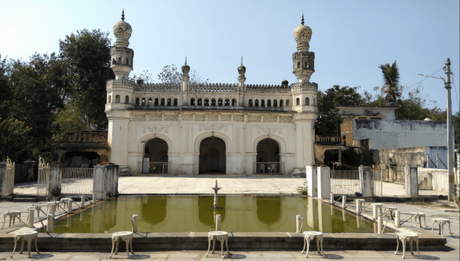 Mosque at the Paigah Tombs in Hyderabad