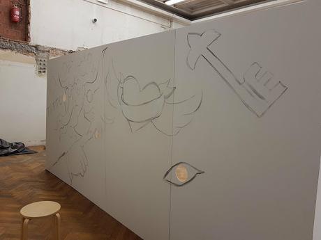 Free Style Sketching - Art Truc Troc 2018 - Ben Heine Bozar - Tattoo Box
