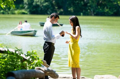 Natalie and Jason's Engagement by the Lake in Central Park