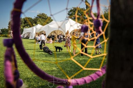 Festival Wedding through a Dream catcher