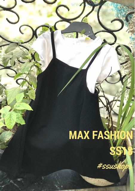 MAX Fashion SS18 Girls Collection - A-Line Black Dress with White T-Shirt
