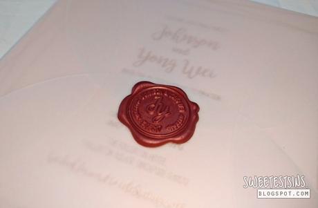 wedding invitation card envelope wax seal