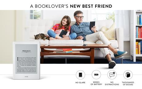 Image: Kindle E-reader - Black, 6 inch Glare-Free Touchscreen Display, Wi-Fi - Includes Special Offers