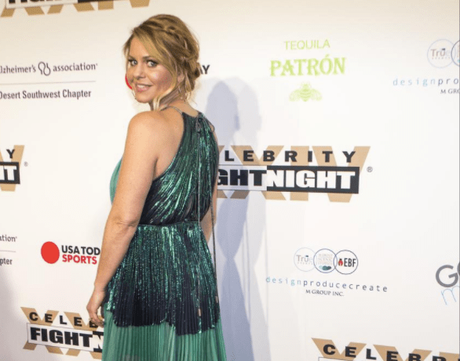 Red Carpet Style:  Candace Cameron Bure Attends Celebrity Fight Night