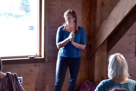 Katy Bowman Leading Movement Workshop at Softstar Shoes