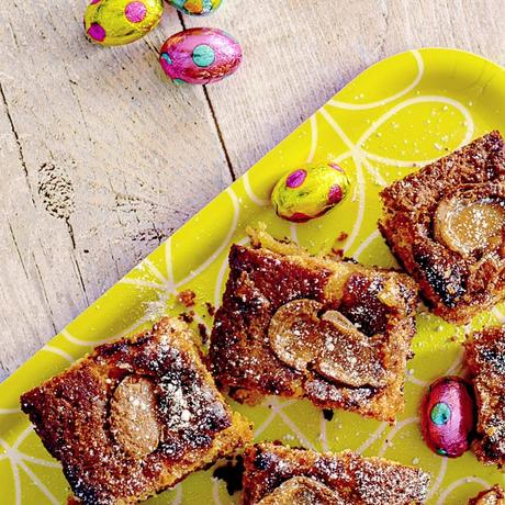 Recipe|| Easter Galaxy Caramel Egg Blondies