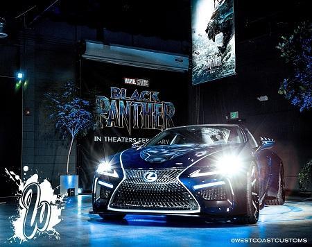 Black Panther Lexus At DUB Show