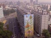 Flowers Growing High-rise Buildings Murals Mona Caron