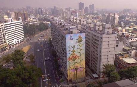 Flowers Growing on High-rise Buildings – Murals by Mona Caron