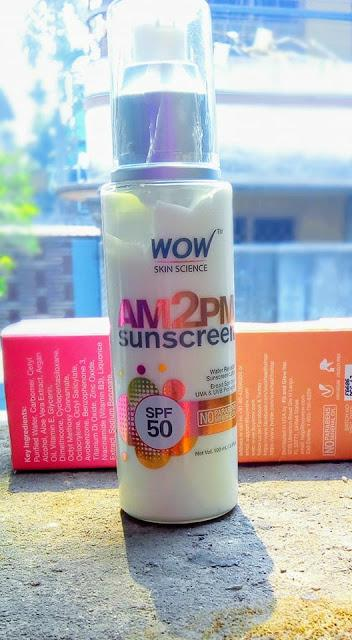 WOW AM 2 PM SUNSCREEN REVIEW