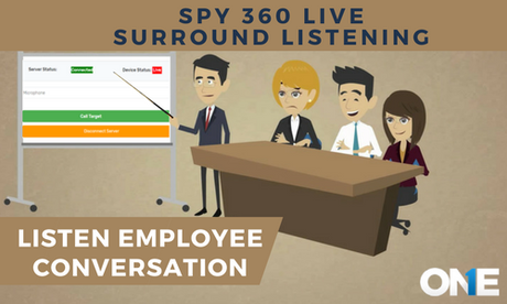 Spy 360 live surround Listening –What Employees are talking about behind you