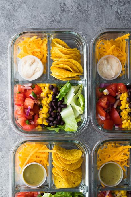 No Cook Taco Salad Bento Box Recipe