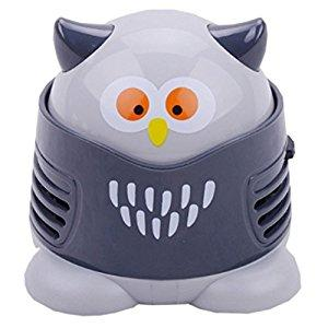 Image: Portable Cartoon Mini Owl | Table Dust Vacuum Cleaner | Table Cleaning Assistance | Keyboard Cleaning Dust Sweeper | for Home Office by VESIPA