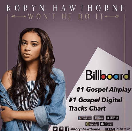 Koryn Hawthorne  #1 On Two Gospel Billboard Charts