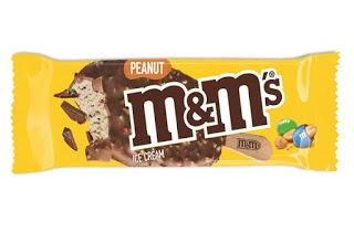m&ms peanut ice cream stick