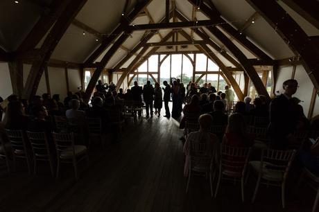 Sandburn Hall Wedding Photography ceremony silhouette
