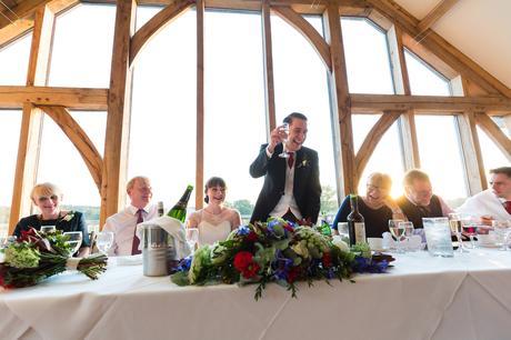 Sandburn Hall Wedding Photography groom giving toast