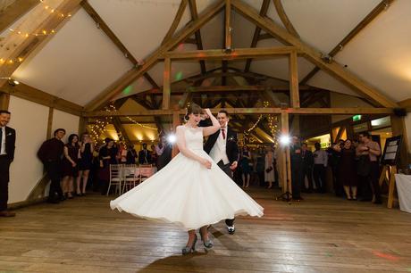 Sandburn Hall Wedding Photography frist dance twirl
