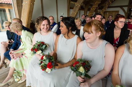 Sandburn Hall Wedding Photography bridesmaids laughing