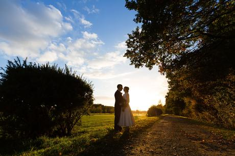 Sandburn Hall Wedding Photography colourful sunset on the gold course