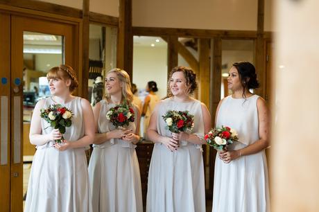 Sandburn Hall Wedding Photography bridesmaids waiting for bride to arrive