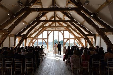 Sandburn Hall Wedding Photography ceremony wide shot