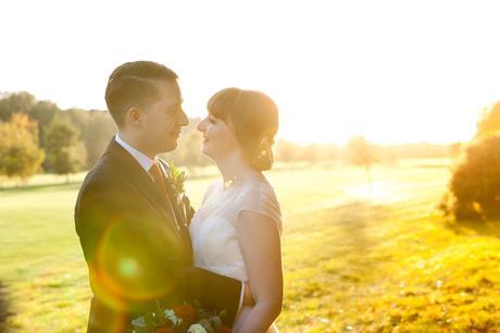 Sandburn Hall Wedding Photography Sunset photograph on golf course