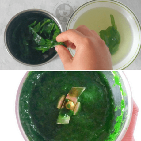 make a puree out of the spinach leaves