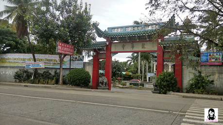 Drop off point at Lon Wa Buddhist Temple in Davao