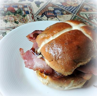 Hot Cross Bacon Baps