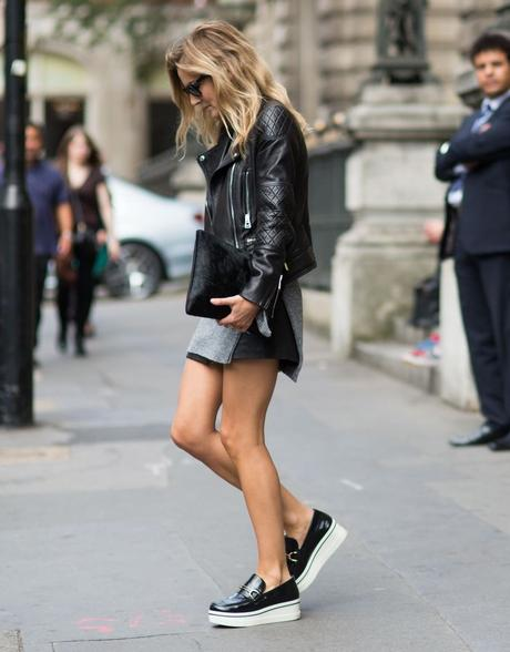 platform shoes with shorts