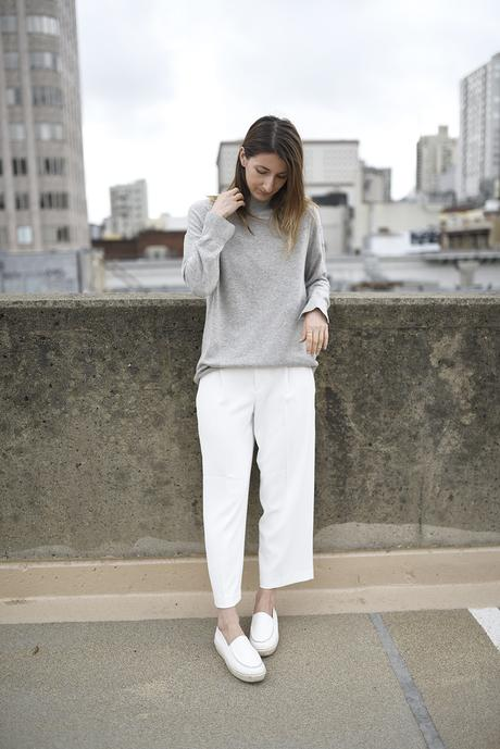 cropped pants with platform shoes