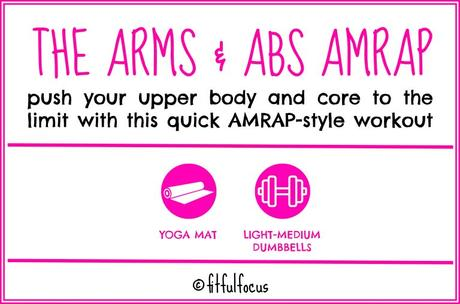 The Arms Abs AMRAP Workout