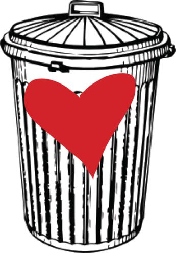 Being Tossed Aside: Trash In A Can