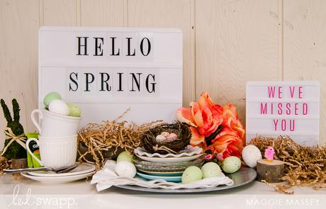 Spring Vignette | Heidi Swapp + Michaels