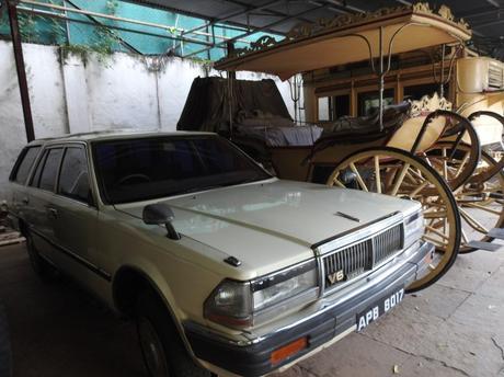 Heritage wheels on display at Chowmahalla Palace in Hyderabad