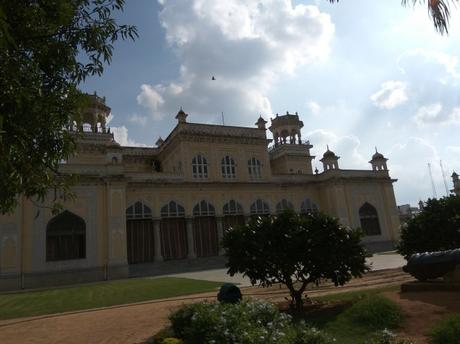 A view of the Chowmahalla Palace in Hyderabad