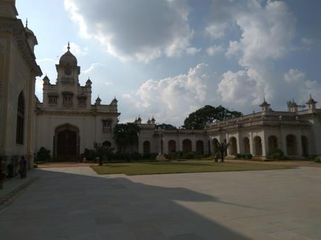 Another view of the Chowmahalla Palace in Hyderabad