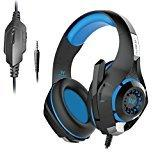 Kotion Each GS410 Headphones with Mic and for PS4, Xbox One, Laptop, PC, iPhone and Android Phones(Blue)