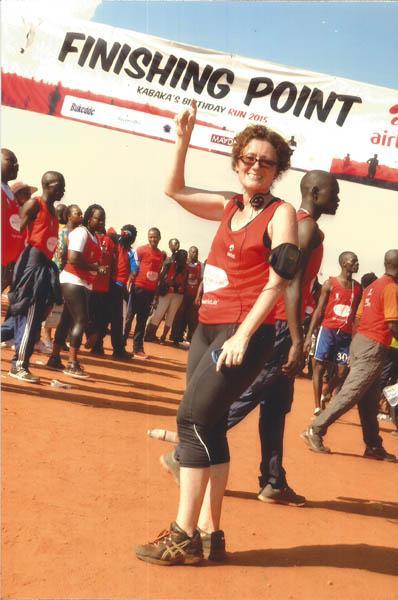 Diary of a Muzungu. finishing point. Kabaka's Birthday Run 2015
