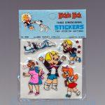 Richie Rich Three Dimensional Stickers, short blue Richie in pain variant front view