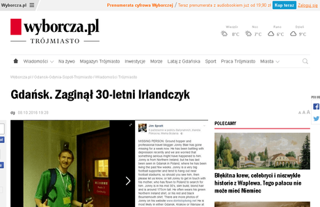 The time I was in the Gazeta Wyborcza in the wake of depression caused by liars
