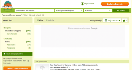 Gumtree Warsaw Flat Finder