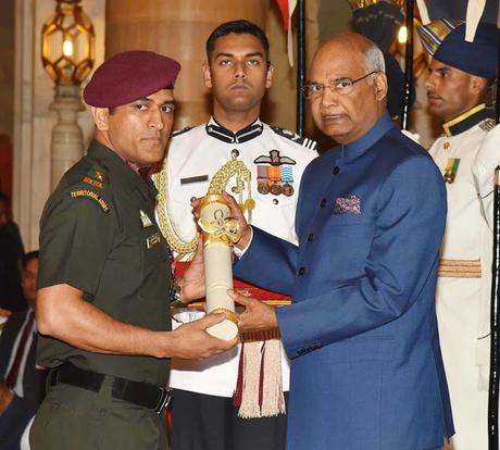 MSD conferred Padma Bushan 2018  ~ receives in style
