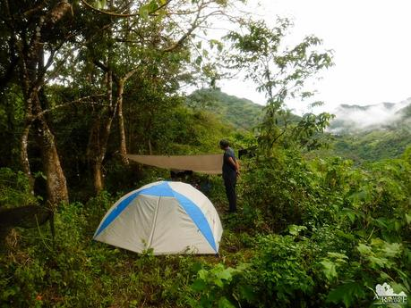 Our campsite in Mt. Tongkay