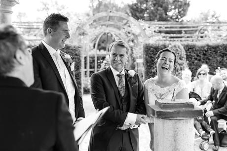 Bell Hall Wedding Photography bride laughs her way through the ceremony